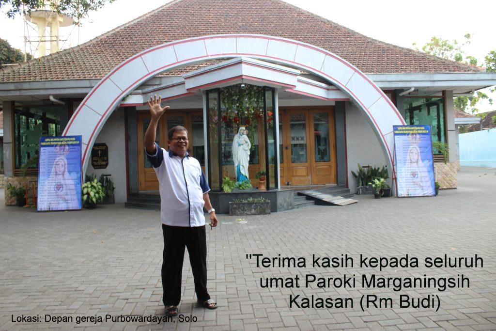 Umat Kalasan Mengantar Rm Budi Ke Gereja Purbowardayan Solo Paroki Maria Marganingsih Kalasan